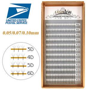 Details about LashView XD Premade Fan Volume Eyelash Extensions   05/ 07/ 10mm Lashes 3D-6D