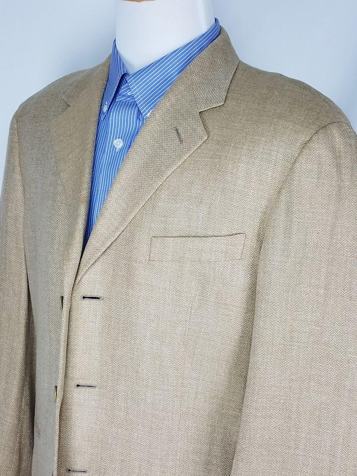 Vestimenta Spa  Herren Gold 3 Button Blazer Sport Coat U.S. Größe 42R