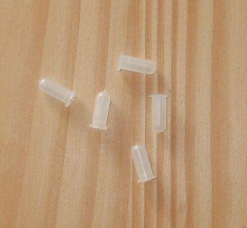 10 X Plástico Fricción Recortar//insignia de fijación Bush.