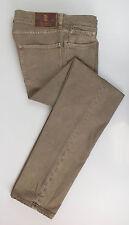 New. BRUNELLO CUCINELLI Beige Cotton Pants Jeans Size 52/36  $545