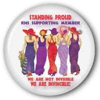 6 Stand Proud Red Hat 3 Buttons Gift Favor For Ladies Of Society
