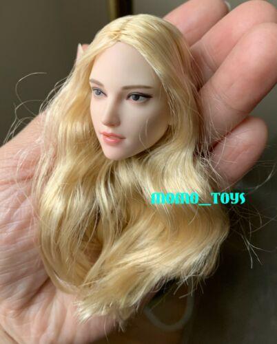 "SUPERDUCK 1//6 Female Head Sculpt Blonde Hair B For Pale TBLeague 12/"" Figure❶USA❶"