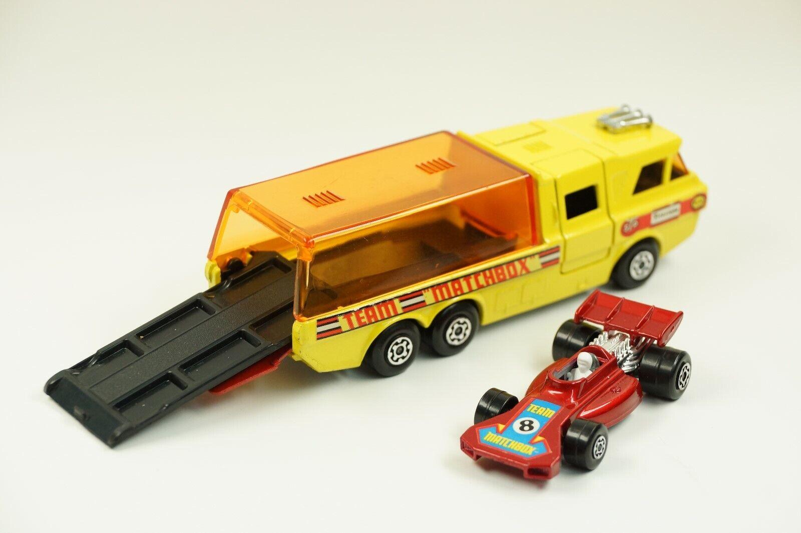 Matchbox Super Kings K-7 Racing Car Transporter - Team Matchbox (N10