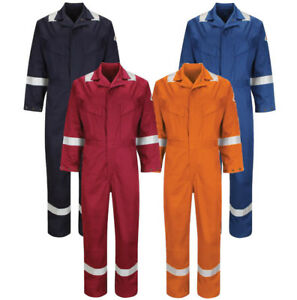 Walls FR Flame Resistant Work Wear Overalls Coverall Boiler Suit Navy RRP £100