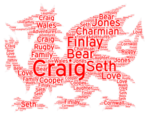 Personalised-Word-Art-Cloud-Welsh-Dragon-Picture-Print-Wales-Gift-Present-A4-A3