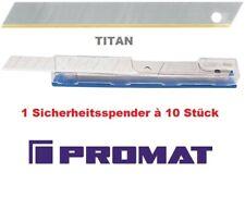 Abbrechklinge L100xB17,7xS0,5mm Titan 7 Sollbruchstellen 10 St.//Spender PROMAT