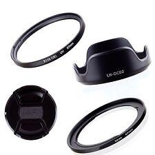 Adapter Ring+Lens Cap+Hood+UV Filter For 67mm Canon Powershot SX40 HS SX50