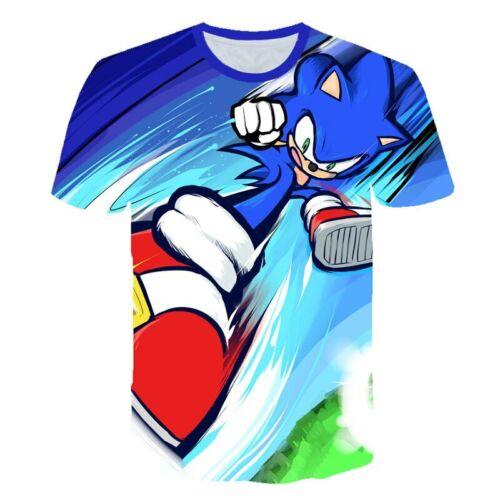 SONIC Supersonic T-shirts Print Clothes Girls Boys Costume Children Kids summer