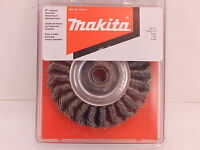 Makita 4 Knot Wire Wheel Brush Standard Twist Carbon Steel Wire 1/2 Face