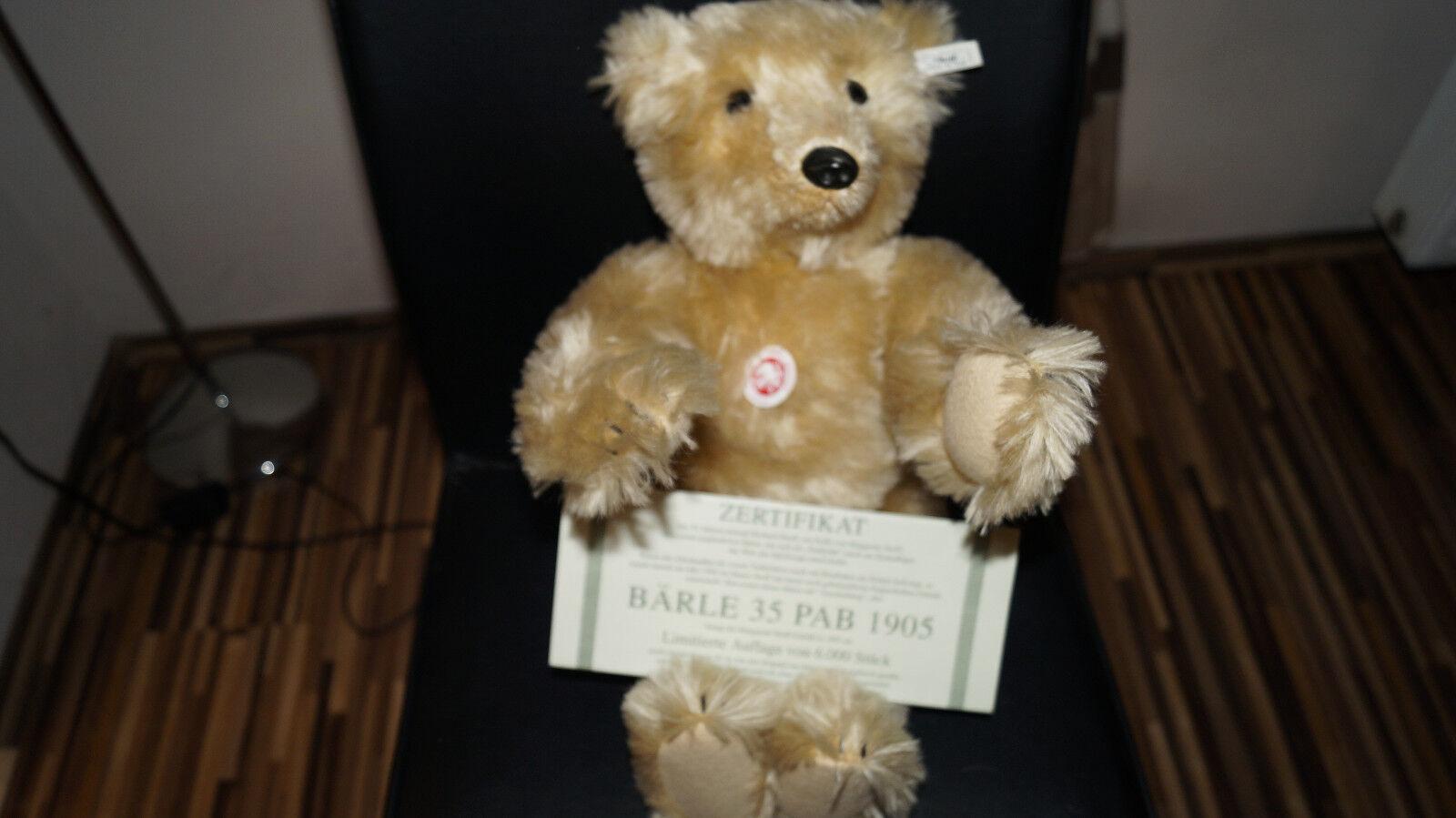 Steiff Bärle 35 PAB 1905 limitiert, unbespielt mit Zertifikat und 45cm groß