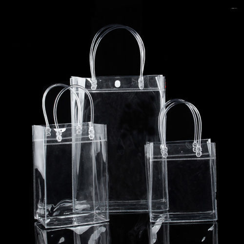 S//M//L Clear Tote Bag Transparent Purse Shoulder Handbag Stadium Approved FT
