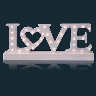 Sentik A Batteria 34 Led Luce Segno In Legno Love Placca Decorazione Regalo- Colore Veloce