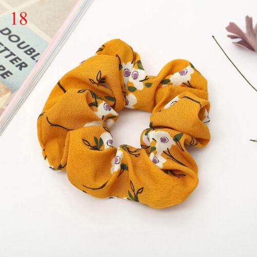 1x Velvet Flower Hair Scrunchie Ponytail Holder Hair Ties Rope Elastic Hair Band
