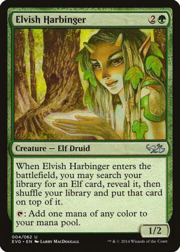 Elvish Harbinger Duel Decks Anthology Goblins NM-M CARD ABUGames Elves vs