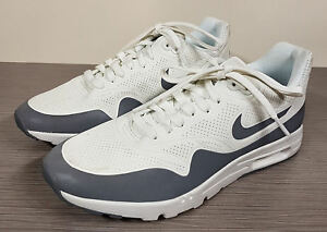 Details about Nike Air Max 1 Ultra Moire, Summit WhiteSilverGrey Womens Rt 839, Left 8.540