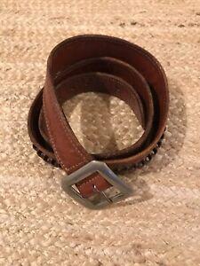 """Details about  /Vintage Leather 22 Caliber Ammunition Cartridge Belt 36/"""" long Marked /""""96V 22/"""""""
