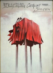 Vintage-Polish-Poster-Andrzej-Pagowski-Little-Table-Theatre-Poster-1990