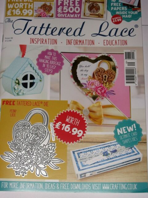 Tattered Lace Magazine 49 Includes A Free Die Set For Cards