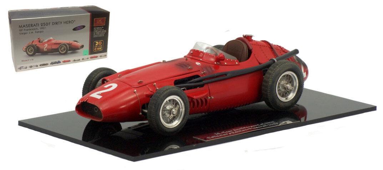 CMC M-148 Maserati 250F French GP 1957 - J M Fangio 'Dirty Hero' 1 18 Scale