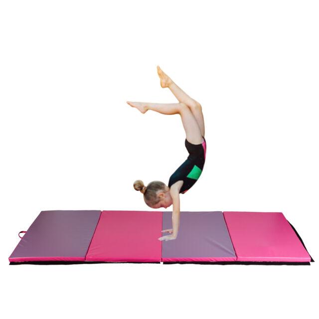 4 X10 X2 High Density Epe Foam Thick Soft Tri Fold Panel Gymnastics Mat Yoga