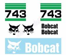 Bobcat 743 Skid Steer Set Vinyl Decal Sticker Aftermarket Free Shipping