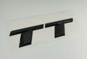 Original-Audi-TT-Zeichen-Black-Edition-Emblem-schwarz-hinten-Schriftzug