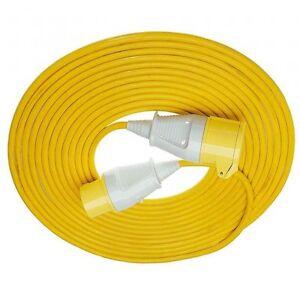 110v 20m extension cable lead 32 amp 110 volt ebay. Black Bedroom Furniture Sets. Home Design Ideas