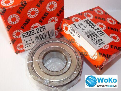 Bearing 6305 2ZR 6305zz 6305Z 6305z 6305 ZR dimension 25x62x17 fast shipping FAG