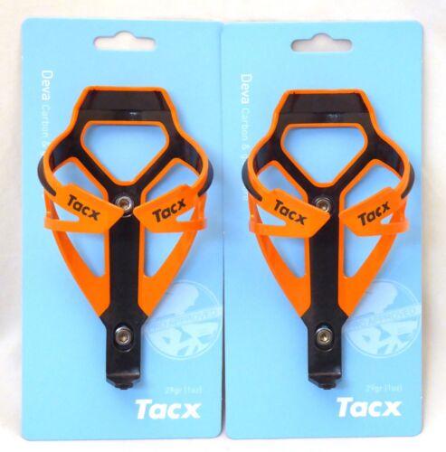 Tacx Deva Water Bottle Cages Pair Orange Black