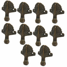 Jewelry Box Wood Case Retro Style Leaf Shape Corner Protectors Bronze Tone 10pcs