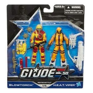 Viper NIP Blowtorch H.E.A.T GI Joe 50th Anniversary Heated Battle 2 Pack G.I