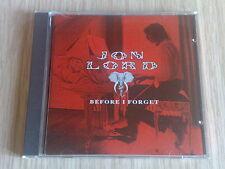 JON LORD (DEEP PURPLE) - BEFORE I FORGET - RARO CD