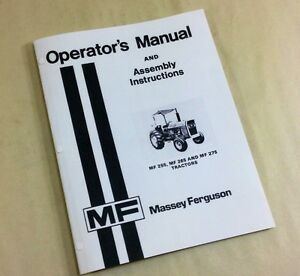 massey ferguson mf 255 265 275 tractor operators owners manual rh ebay com Massey Ferguson 1533 Manual massey ferguson 255 service manual free download