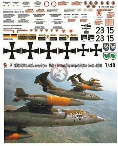 Peddinghaus-1-48-German-F-104G-Starfighter-Markings-from-JaboG-34-Memmingen-1240