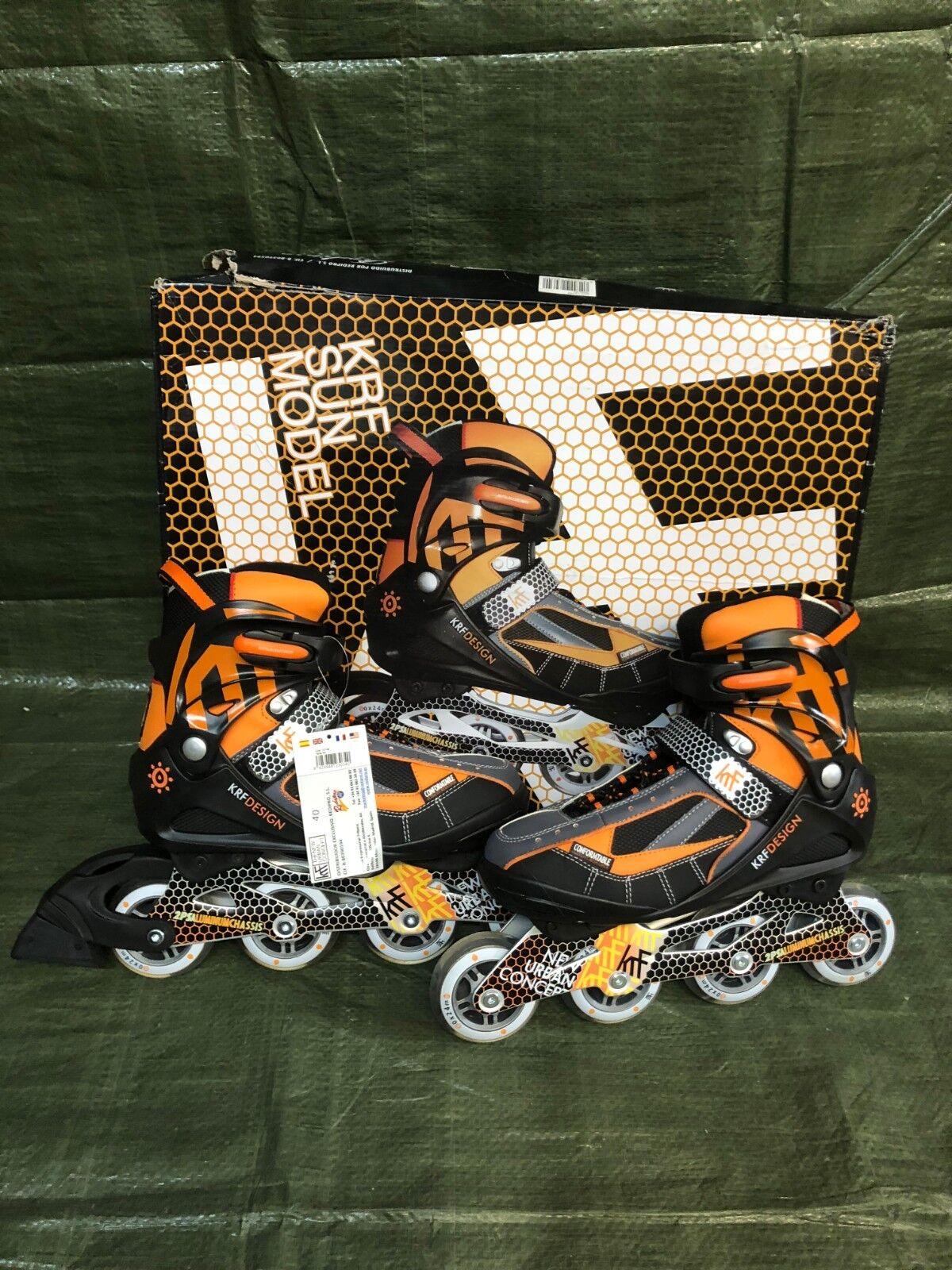 KRF KRF KRF DESIGN Sun Inleiner Inline-Skates Orange schwarz Unisex Gr. 40 NR166 4d1672