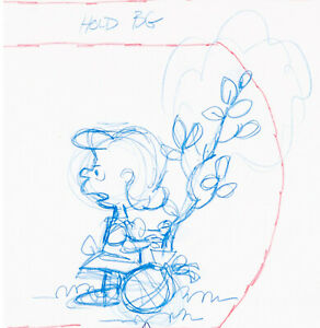 Peanuts Bill Melendez Animation Layout Drawing  It's Arbor Day, Charlie Brown