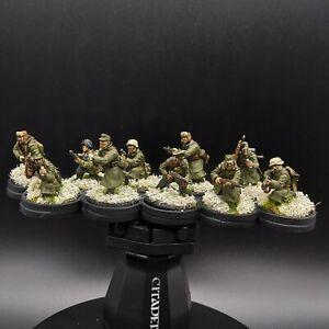 Ben-dipinti-28mm-Bullone-azione-FANTERIA-TEDESCA-10-Uomo-Squad-2-Inverno-ww2