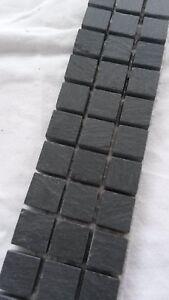 Das Bild Wird Geladen Mosaik Borduere Schiefer Anthrazit  5x30 Cm Matt Naturstein
