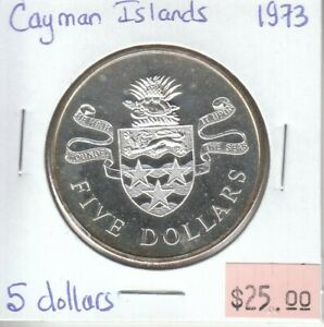 Cayman-Islands-5-Dollars-1973-Silver-Proof