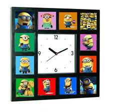 Minions Movie Clock with 12 Minion pictures