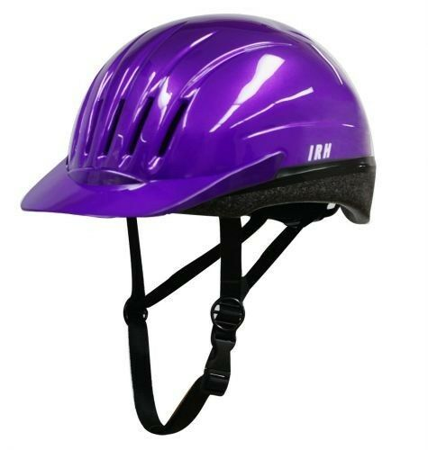 Large PURPLE EQUI-LITE Riding Helmet with Dial Fit System! INTERNATIONAL RIDING!