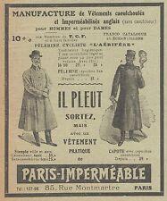 Z8051 Vetements pratique de PARIS IMPERMEABLE -  Pubblicità d'epoca - 1910 Ad