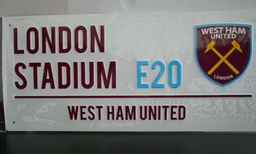 West Ham United Premier Straßenschild Street Sign Offizielles London Stadium E20