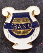 "Enamel Gold Tone ""BAND"" Tie Tack Lapel Pin (JN110)"