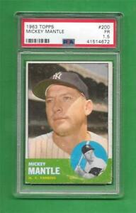 Details About 1963 Topps 200 Mickey Mantle Psa Fair 15 New York Yankees Baseball Card