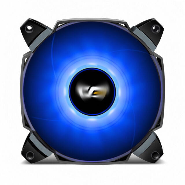 darkFlash Dual Blade 120mm LED Case Fan Large Air Circulation for Computer Case
