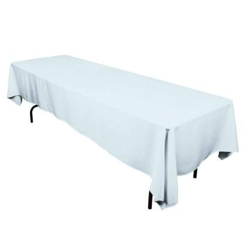 Rectangle Tablecloth for Table Cloth in Washable Polyester-Great for Parties NEW