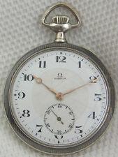 Eine schöne alte Taschenuhr Omega 900/-Silber Tula  um 1900