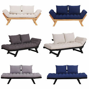 Details about Convertible Sofa Bed Sleeper Couch Chaise Lounge Chair  Adjustable Padded Pillow