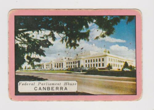 FEDERAL PARLIAMENT,CANBERRA X 1 ONLY SINGLE VINTAGE PLAYING//SWAPCARD